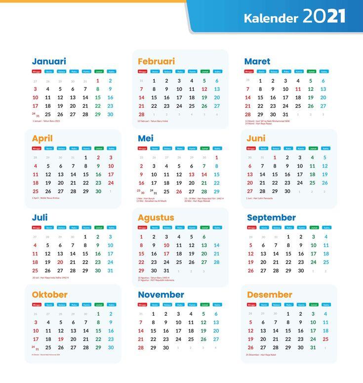 Druckbare Kalender 2021 Vorlage | Printable Calendar with Waterproof Calendars Printable 2021