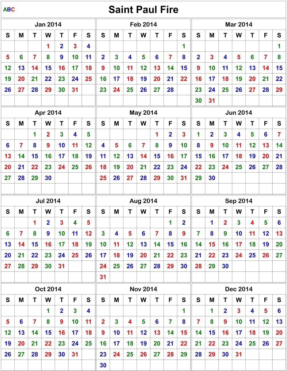 Firefighter Shift Calendar Template | Calendar Template regarding Free Shift Calendar