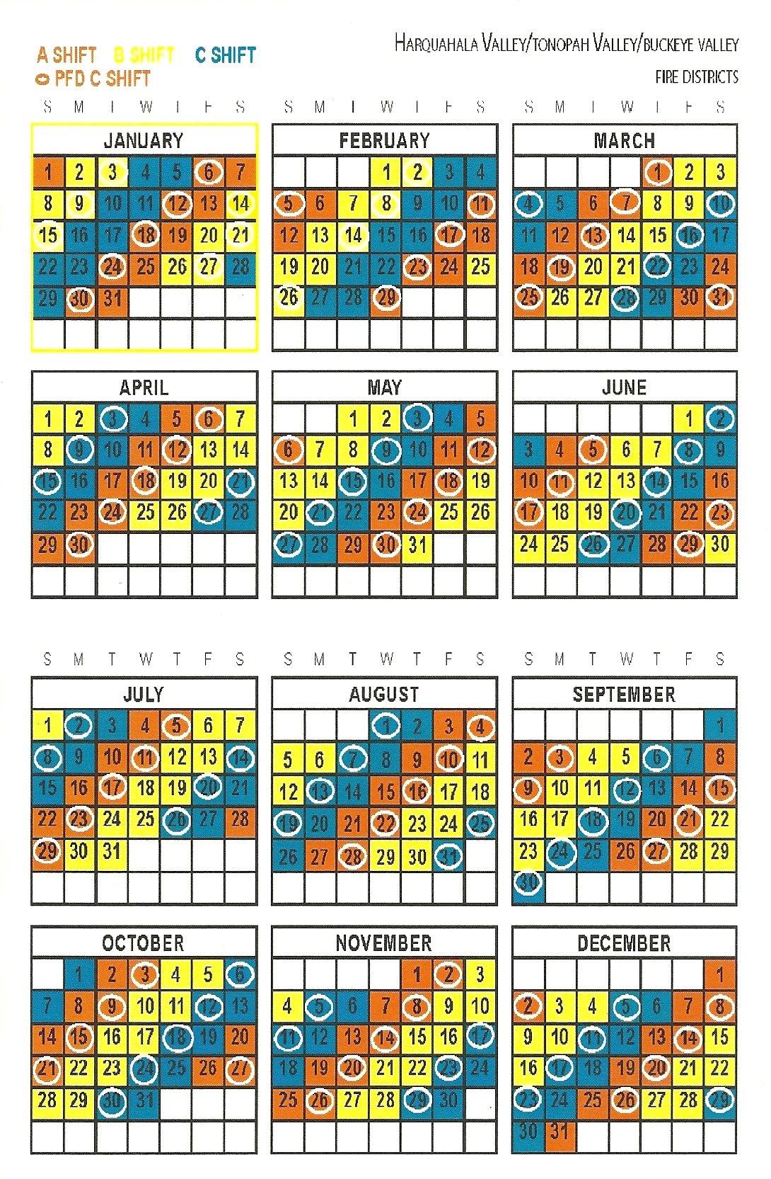 Firefighter Shift Schedule Tool :-Free Calendar Template intended for Free Shift Calendar