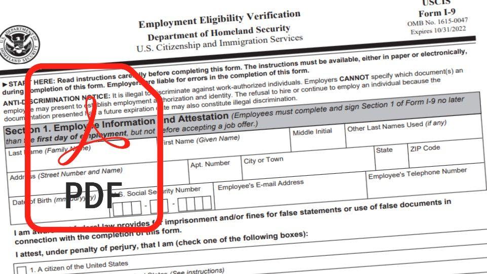 Form I9 Pdf in I9 Forms 2021 Printable