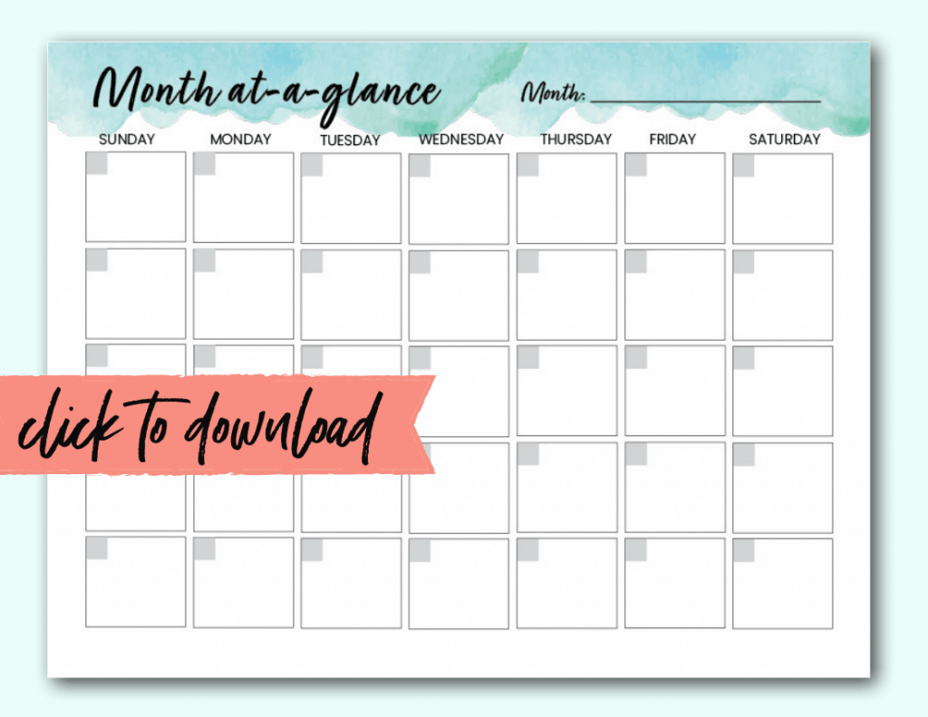Free Blank Monthly Calendar Template Pdf - The Incremental regarding Printable Monthly Calendar Without Download