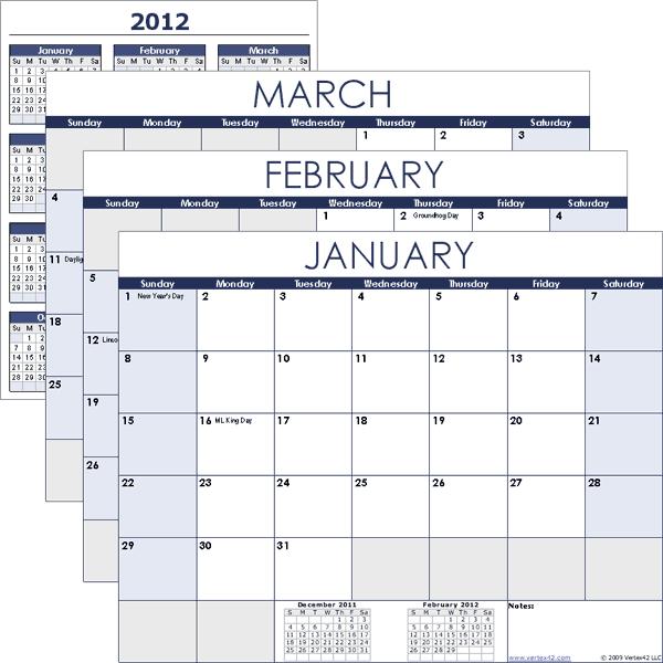 Free Calendar Templates - Fotolip within Vertex Yearly Calendar