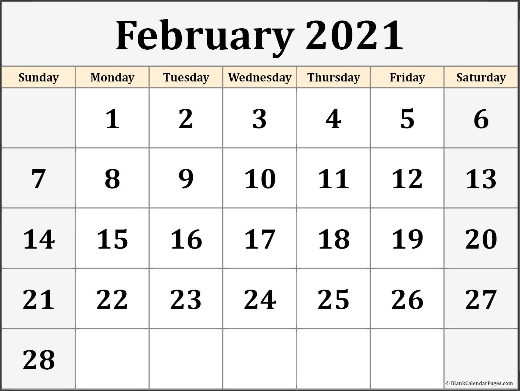 Free Calendars 2021 Printable | Calendar Printables Free Blank in Blank 2021 Calendar Printable Free