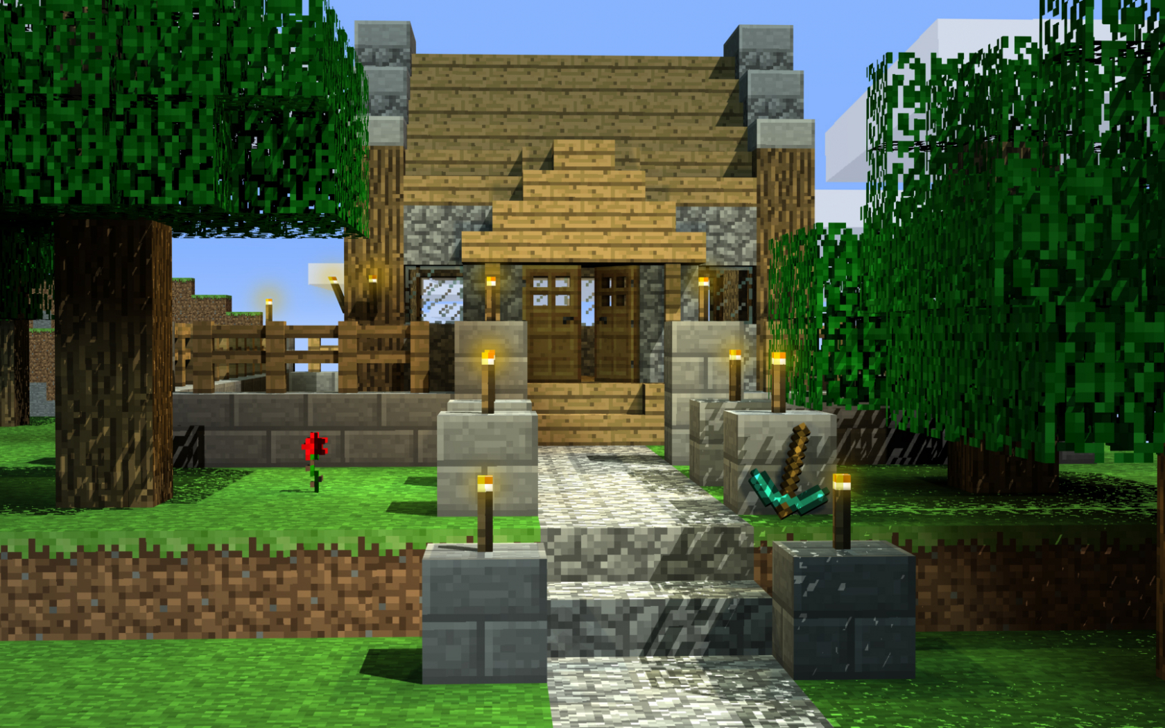 Free Download Minecraft Cozy Cottage Wallpaper Of Cozy for The Cozy Red Cottage 2021