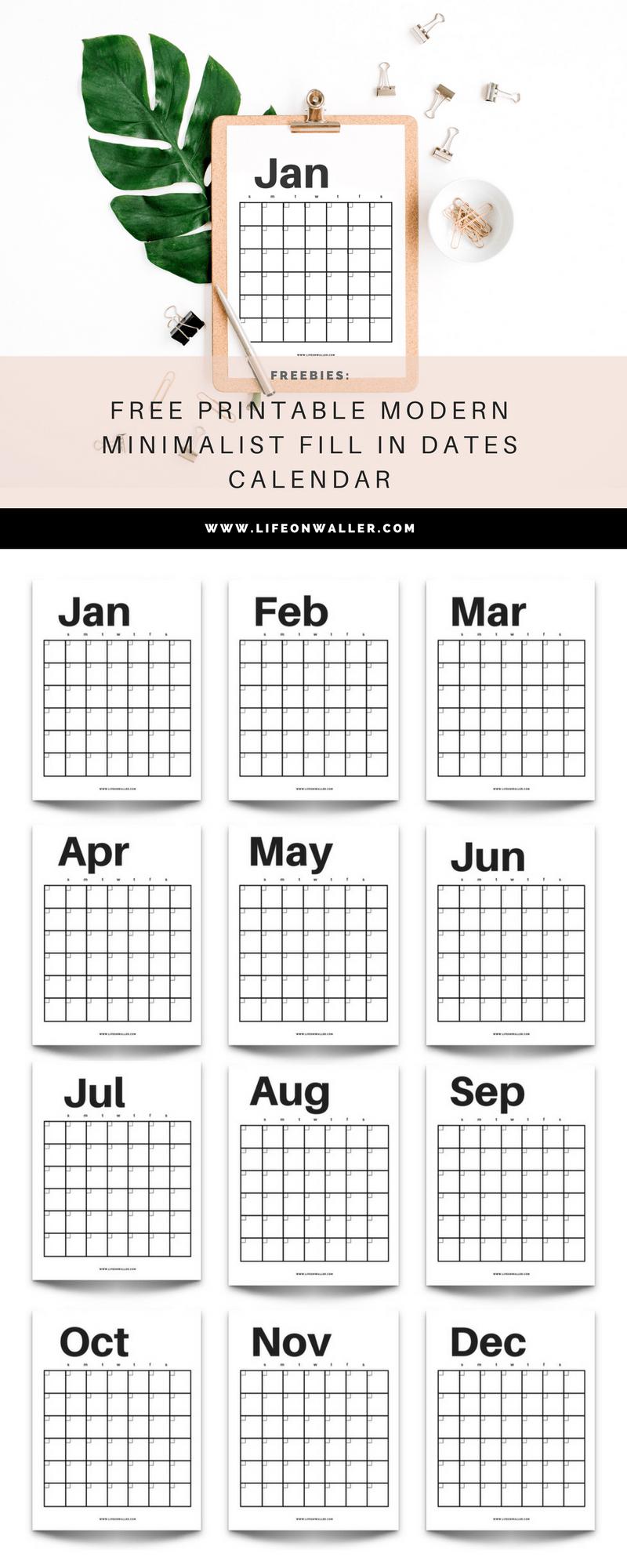 Free Fill In Printable Calendar | Calendar Printables Free in Free Fill In Calendar Template