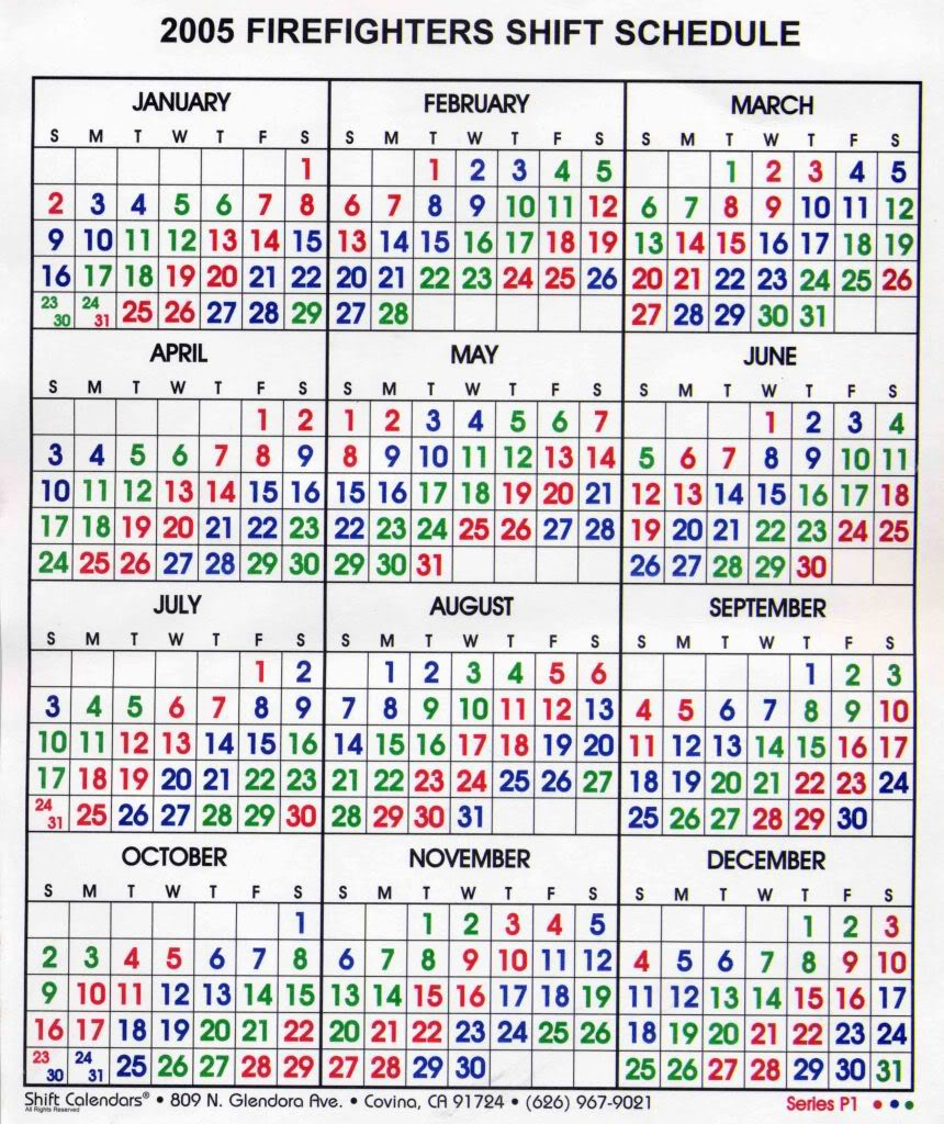 Free Firefighter Printanle Shift Calendars 2020 | Example throughout Printable Yearly Shift Rota Calendars 2021 Free