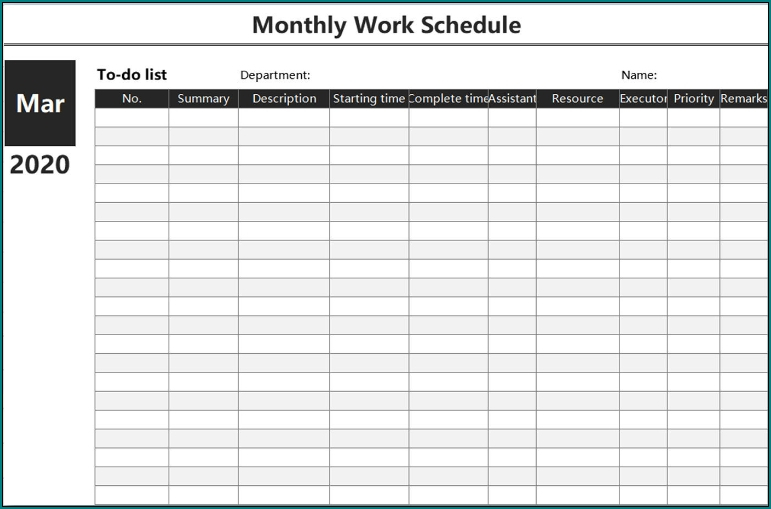 Free Monthly Shift Schedule Image | Calendar Template 2020 pertaining to Free Printable Shift Calendars