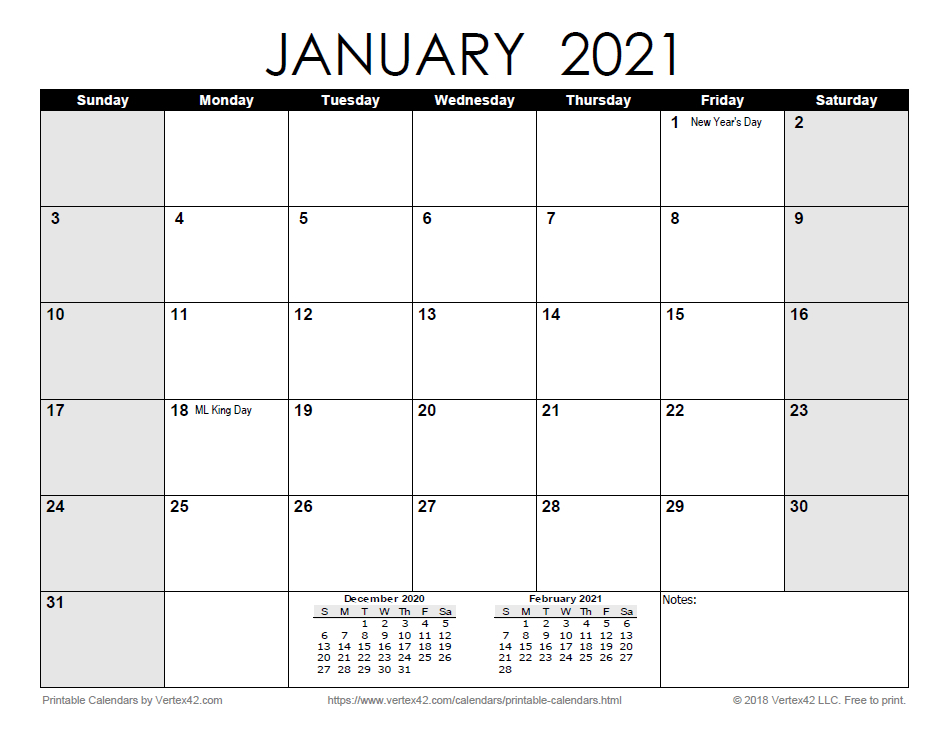 Free Print 2021 Calendars Without Downloading | Calendar within Printable Calendars 2021 Sunday To Saturday