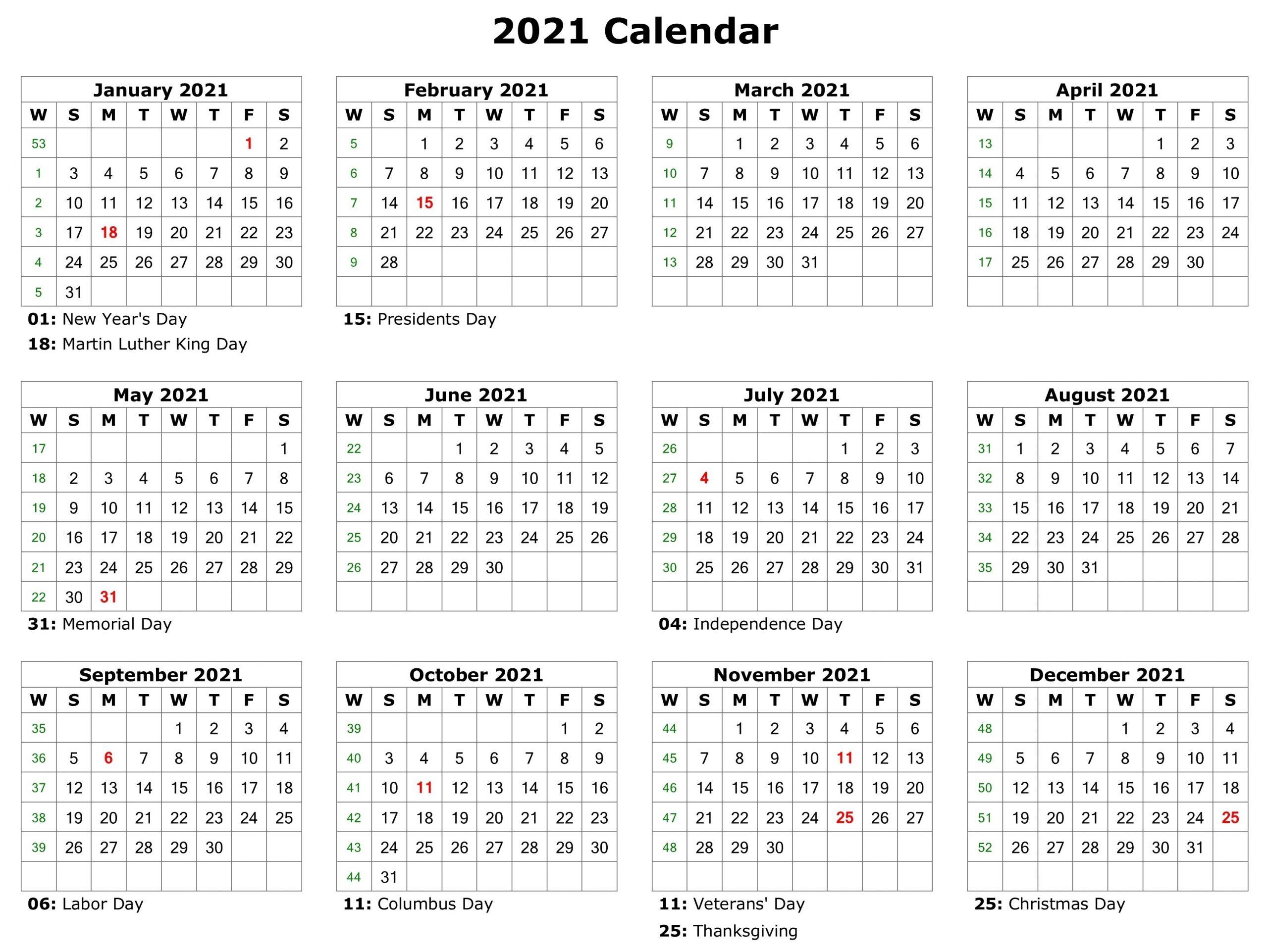 Free Printable 2021 Attendance Calendar | Calendar with Fill In Calendar Printable 2021