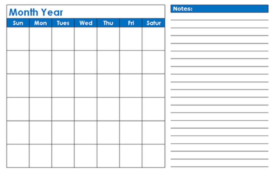 Free Printable Blank Calendar 2020 with regard to Calendar To Fill Online