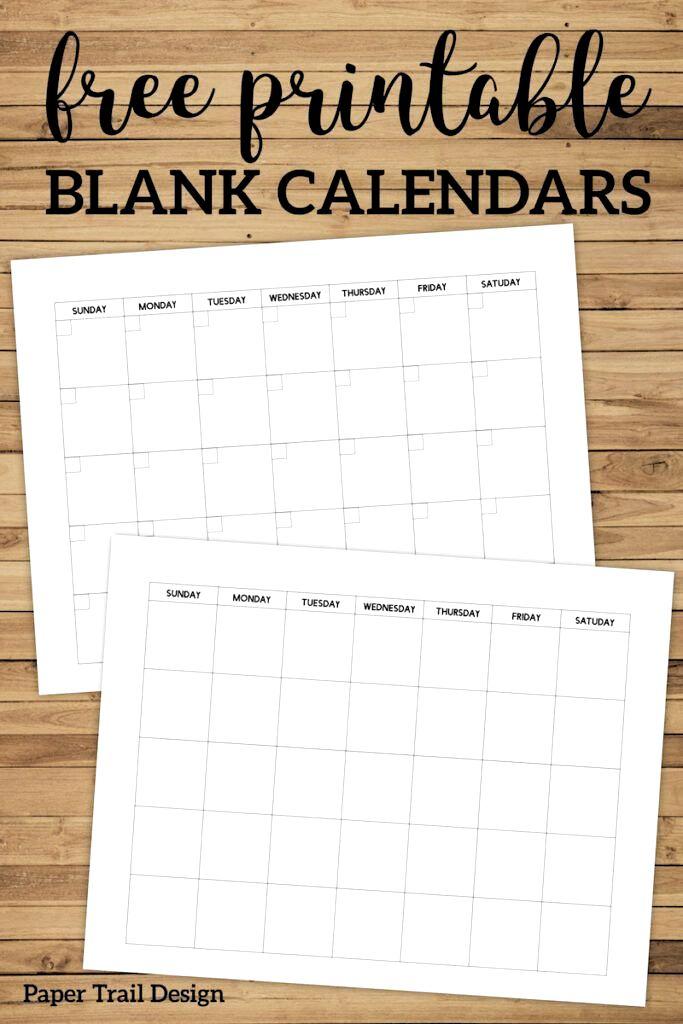 Free Printable Blank Calendar Template. Simple Planning regarding Free Fill In Calendar Template