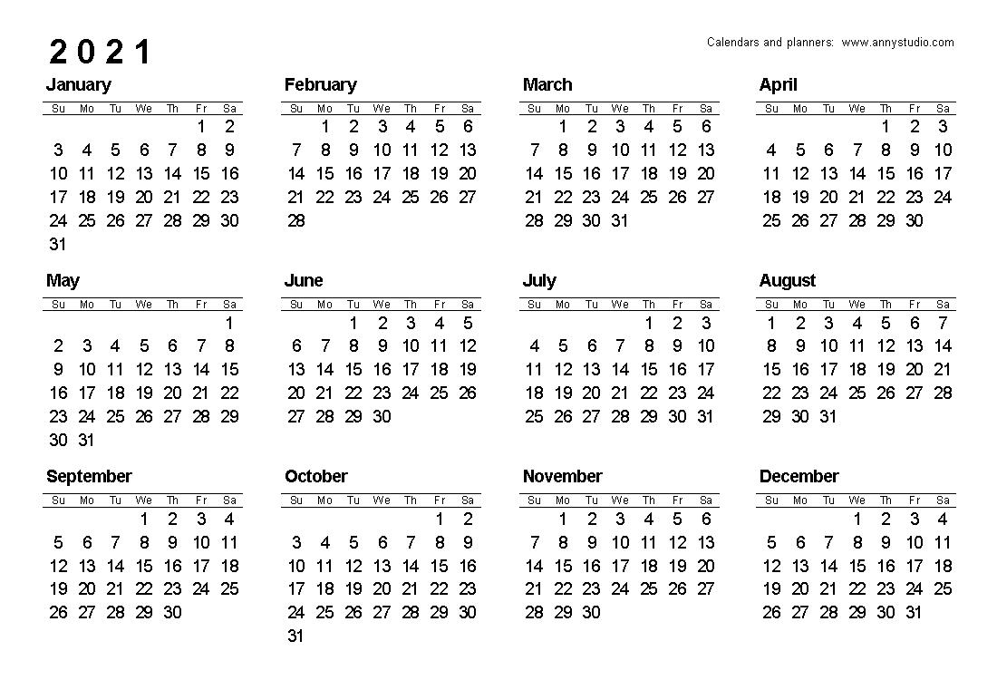 Free Printable Caldender 2021 Monday To Sunday - Calendar with Printable Calendars 2021 Sunday To Saturday
