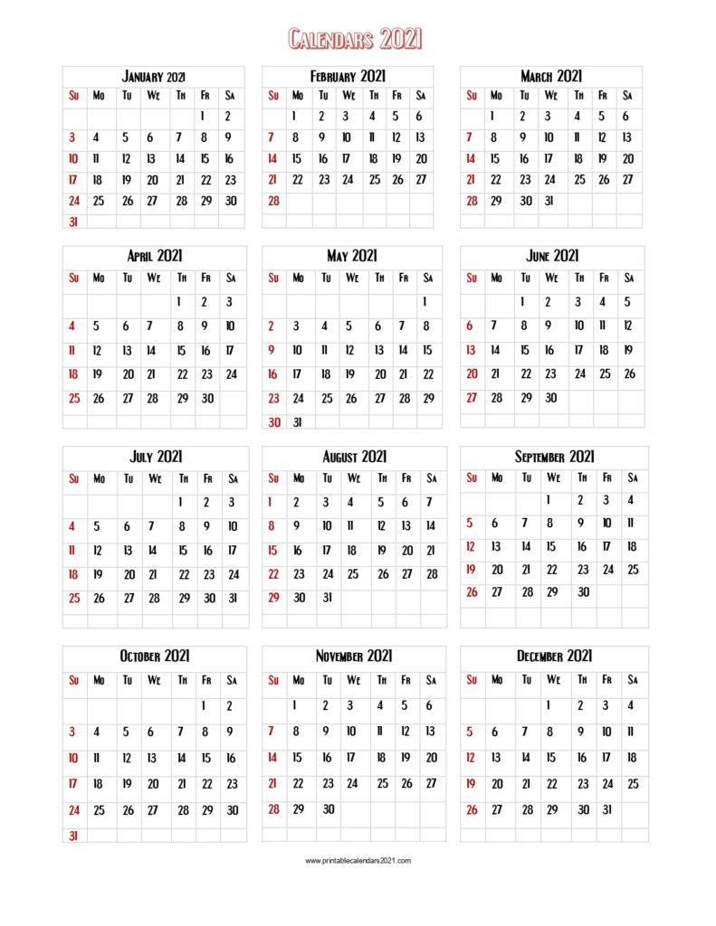 Free Printable Calendar 2021 Large Print | Calendar throughout Wv 2021 Rut