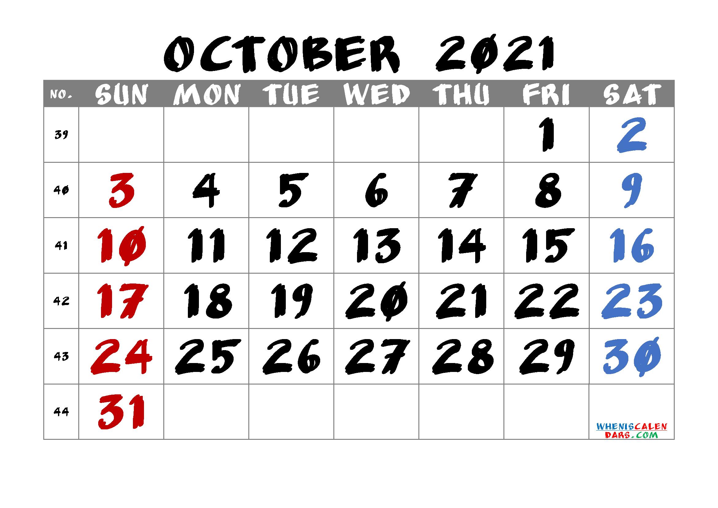 Free Printable October 2021 Calendar with regard to Calendar 2021 October Fill In