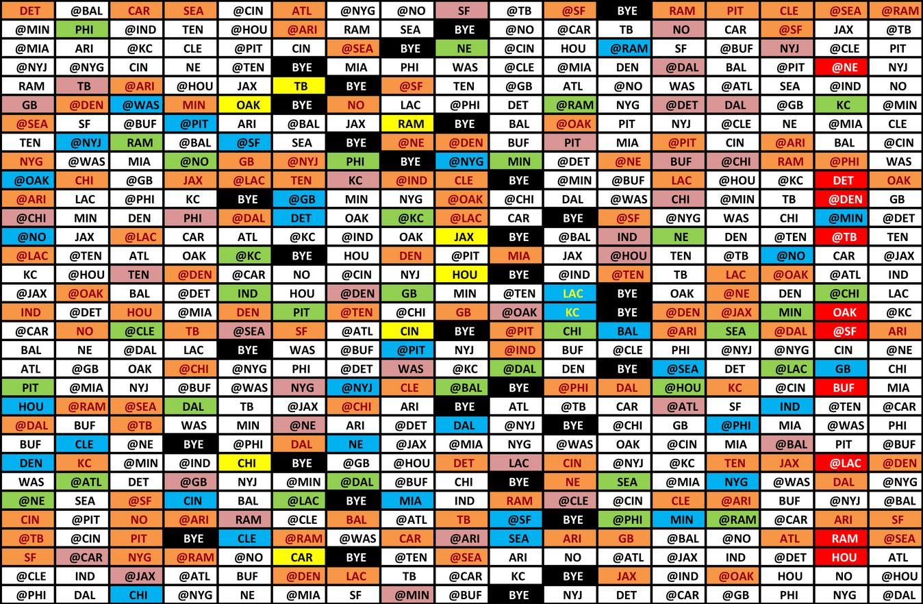 Full Nfl Schedule 2020 with regard to Printable 2021 Full Nfl Schedule