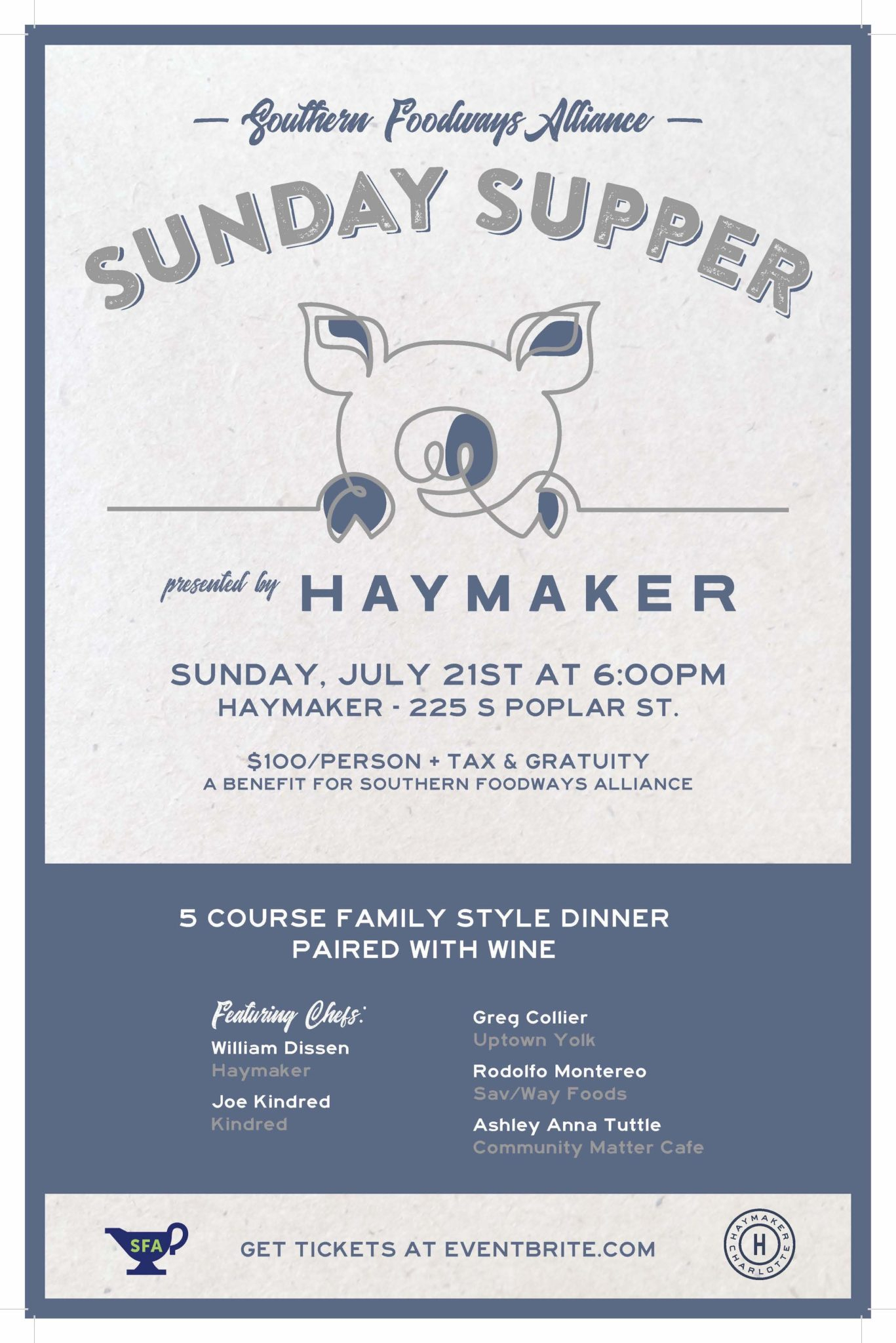 Haymaker Sunday Supper: A Benefit For Sfa | Southern pertaining to Sfa 2021 Calendar