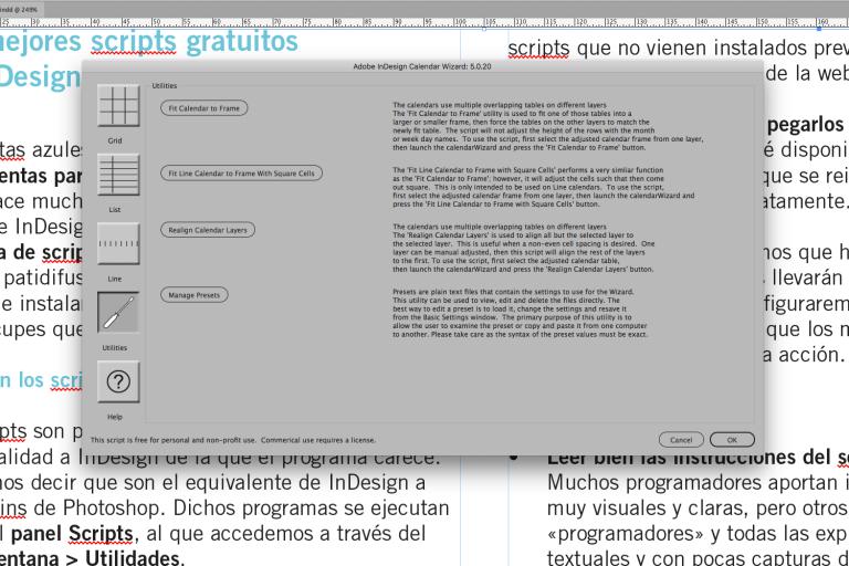 Indesign. Los Mejores Scripts Gratuitos | Rayitas Azules for Calendar Wizard Indesign