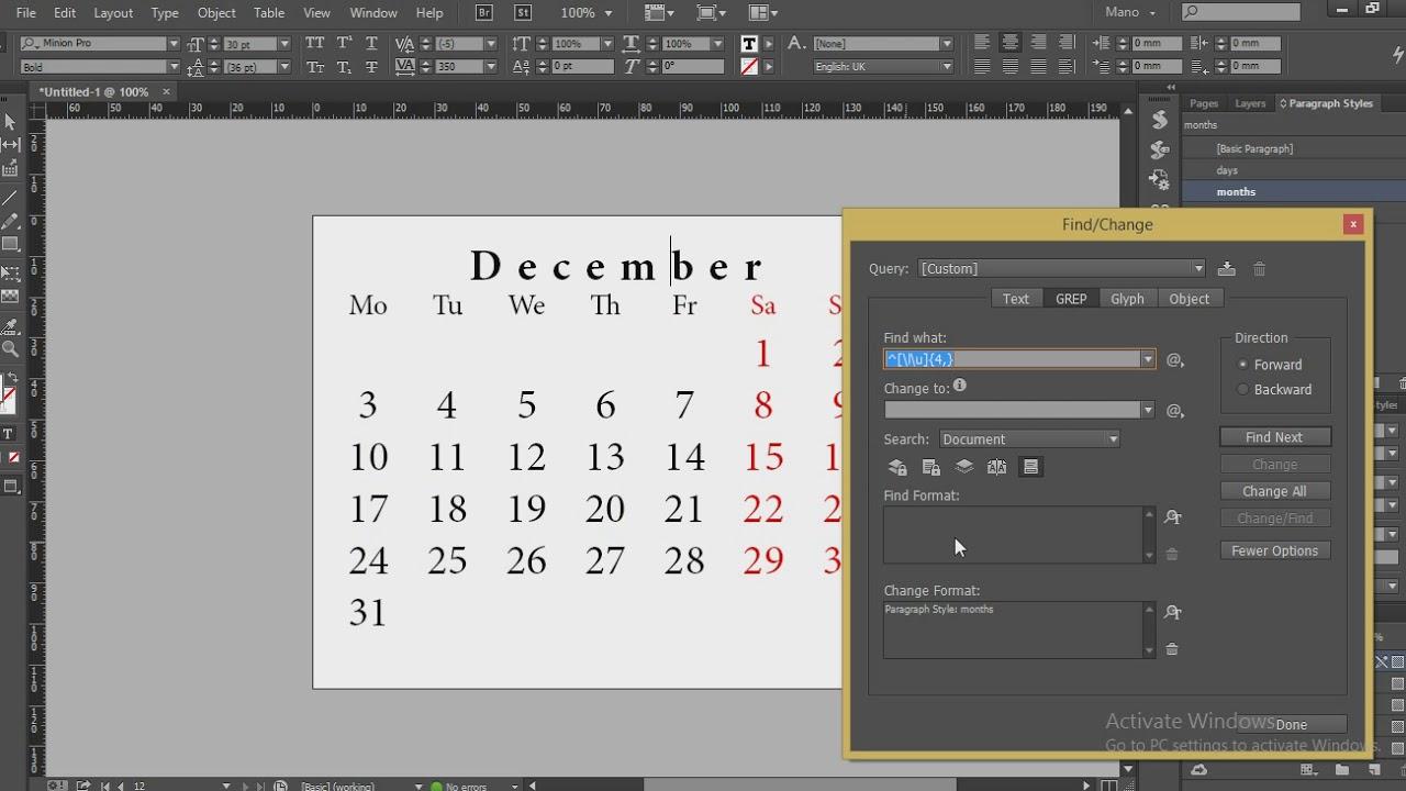 Indesign Tutorial: Quickly Create A Calendar - Youtube for Calendar Wizard Indesign