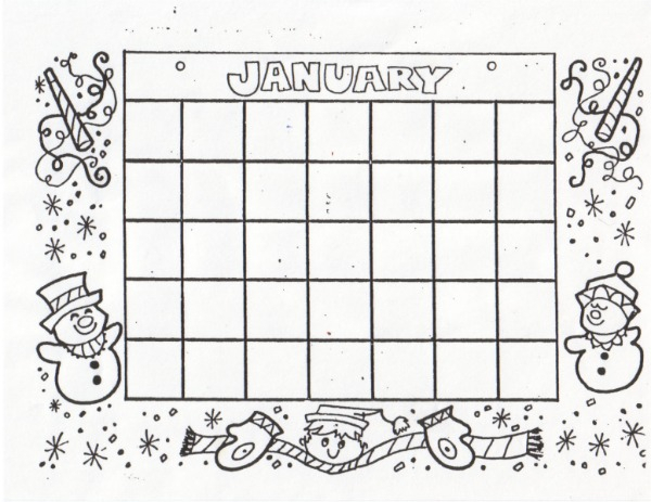 Kat'S Almost Purrfect Home: Free Blank Calendars To Color throughout Free Fill In Calendar Template
