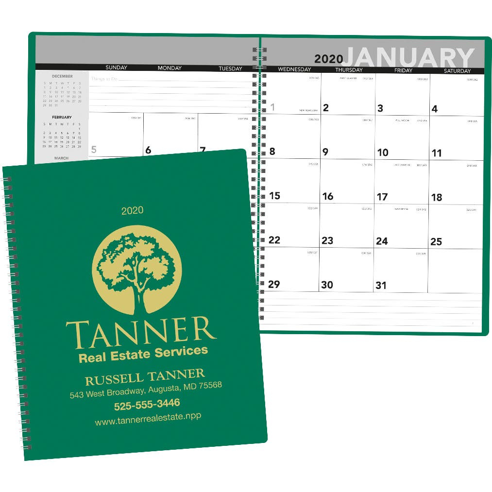 Marketing Monthly Planners (2021, 16 Sheets) | Day with Monthly Planner 2021 With Pockets