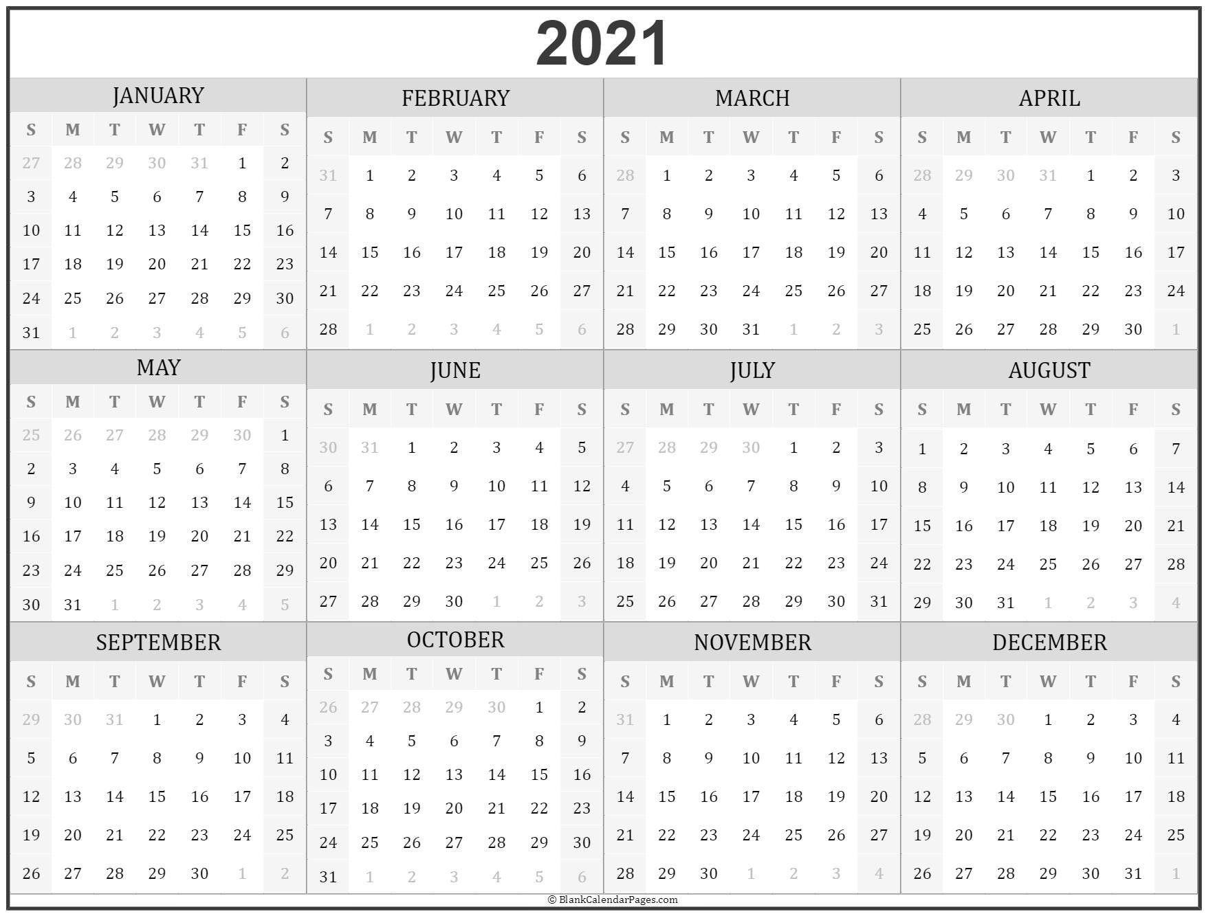 Microsoft Calendar Templates 2021 2 Page Per Month in Free Fillable Calendar 2021