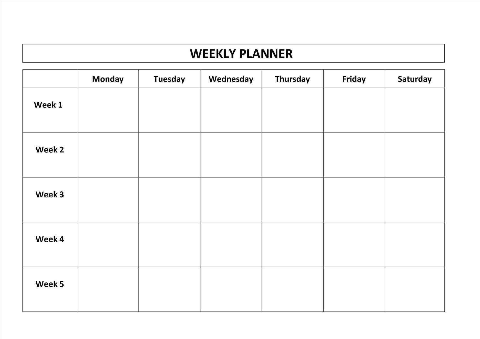 Monday To Friday Blank Calendar | Calendar Template Printable in Sunday Through Monday Blank Calendar