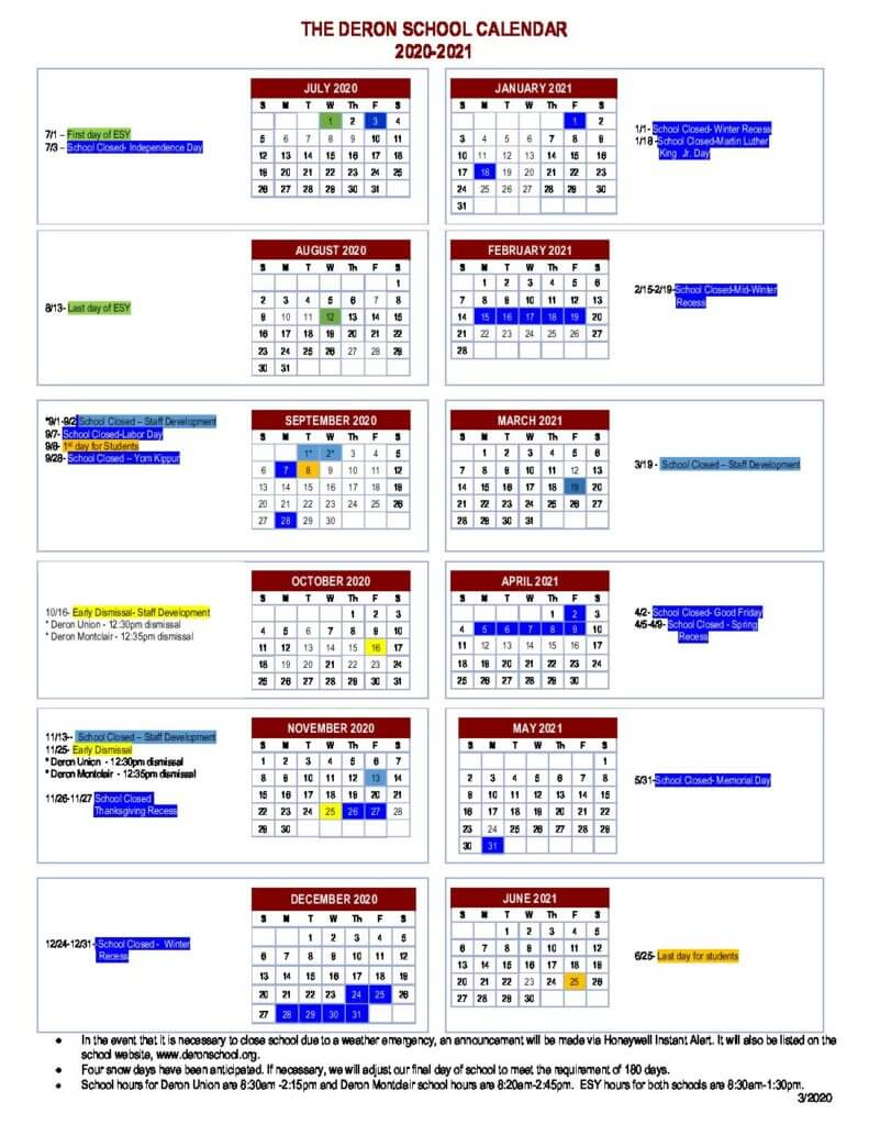 Montclair Calendar 2021 | Printable March inside Aramco Calender 2021