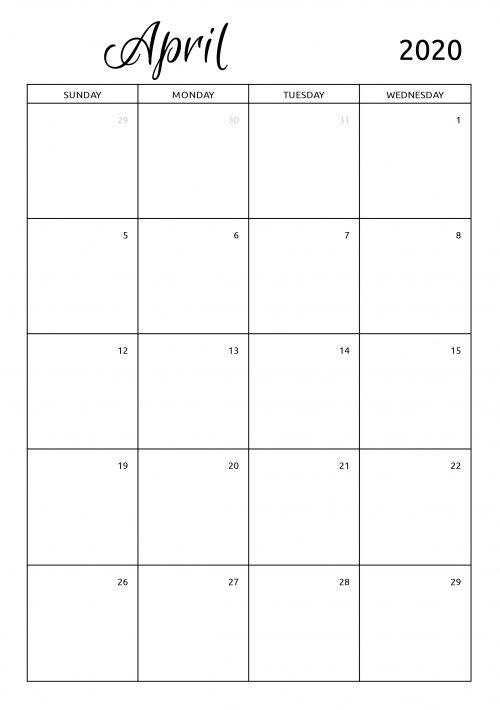 Monthly Calendars To Print And Fill Out Graphics | Calendar Template 2020 with regard to Calendar To Fill Online