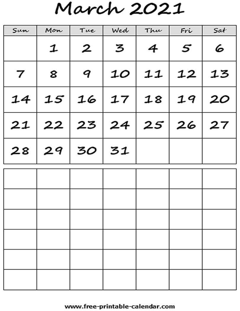Monthly Fill In Calendar 2021   Calendar Template Printable inside Fill In Calendar 2021