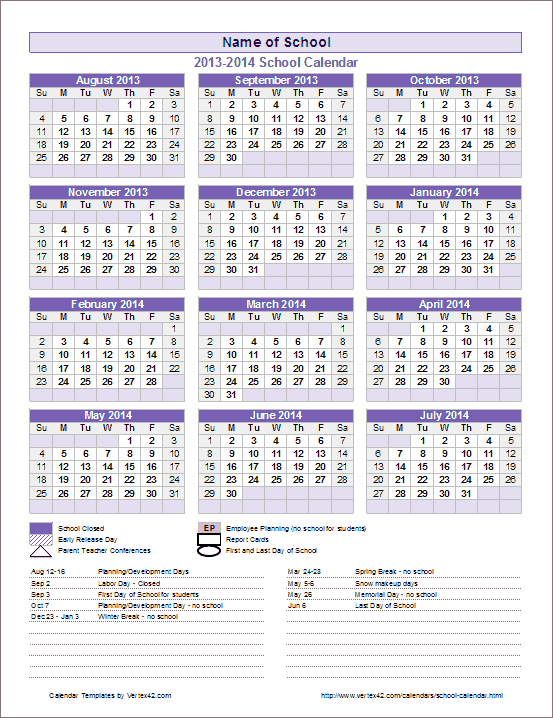 My Favorite Calendar!!! I Use It Every Year Because It'S within All Year Calendar