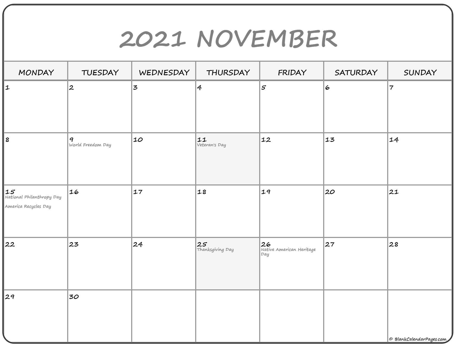 November 2021 Fill In Calendar   Calendar Template Printable with Fill In Calendar 2021