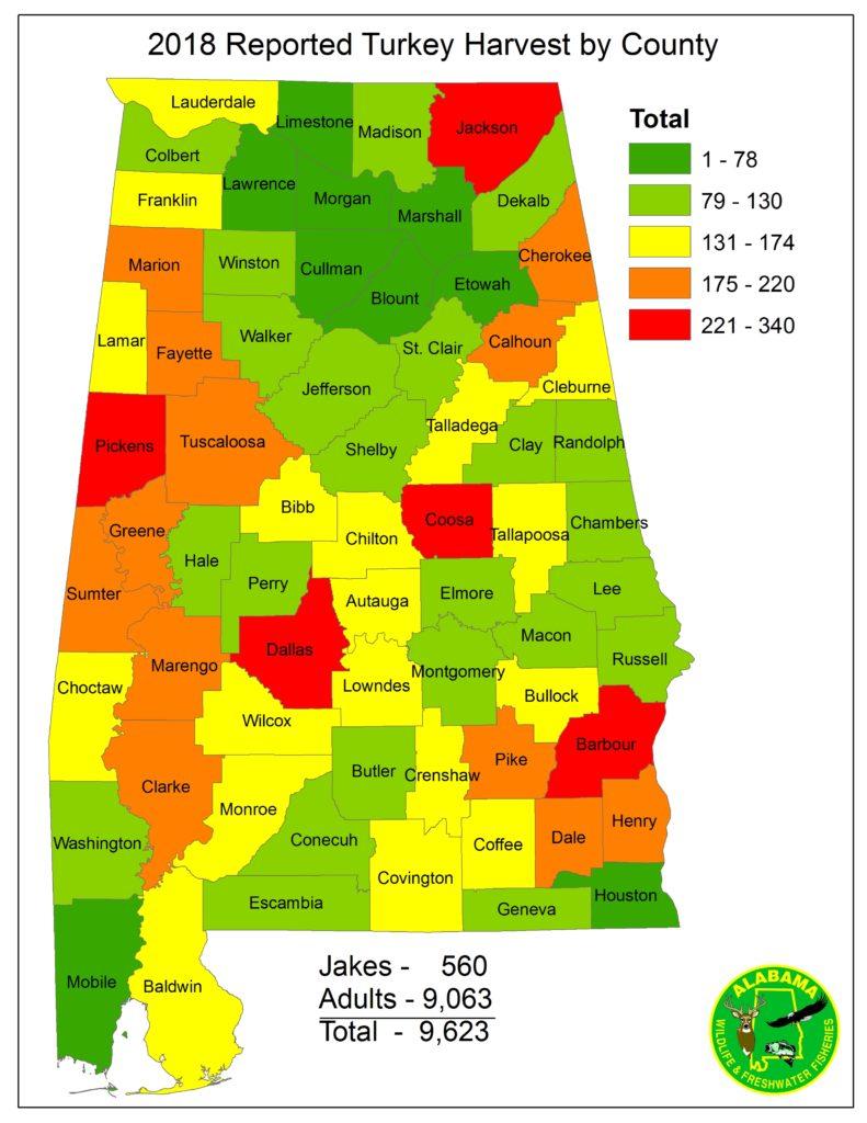 Outdoors in Alabama Rut Map