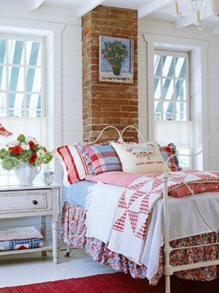Pinmary Guy On Rdmdfrmflovr   Cottage Style Bedrooms intended for The Cozy Red Cottage 2021