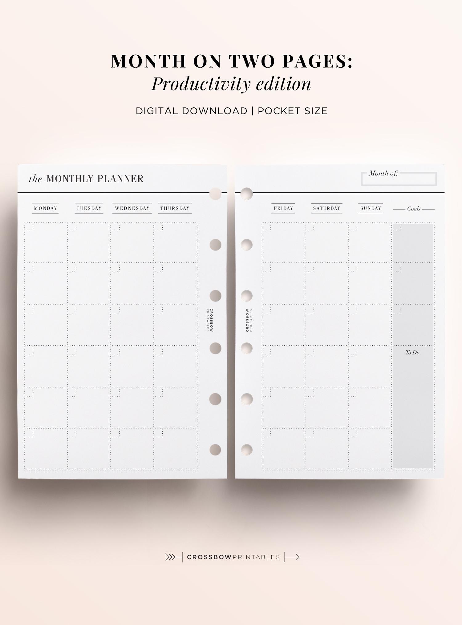 Pocket Size Monthly Calendar Printable - Calendar for Printable Pocket Calender