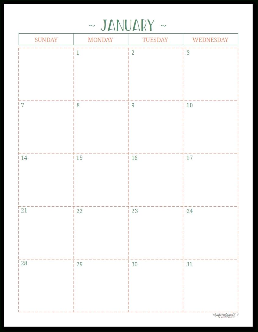 Pocket Size Monthly Calendar Printable - Calendar throughout Printable Pocket Calender