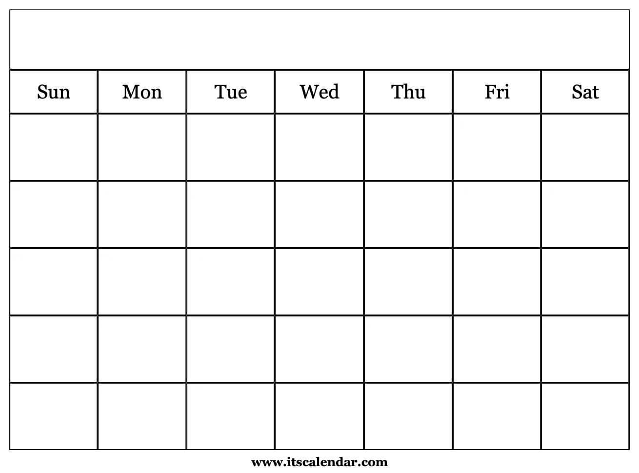 Printable Blank Calendar intended for Printable Monthly Calendar Without Download