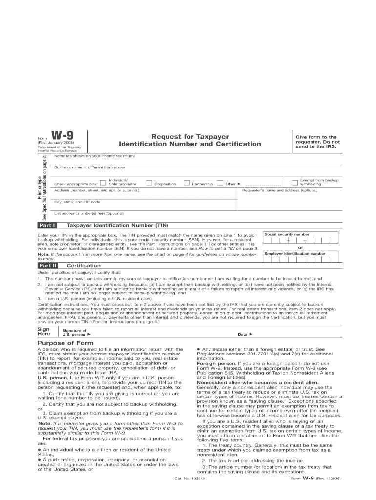 Printable Blank W9 Form   Calendar Template Printable throughout Print Free W9 Form