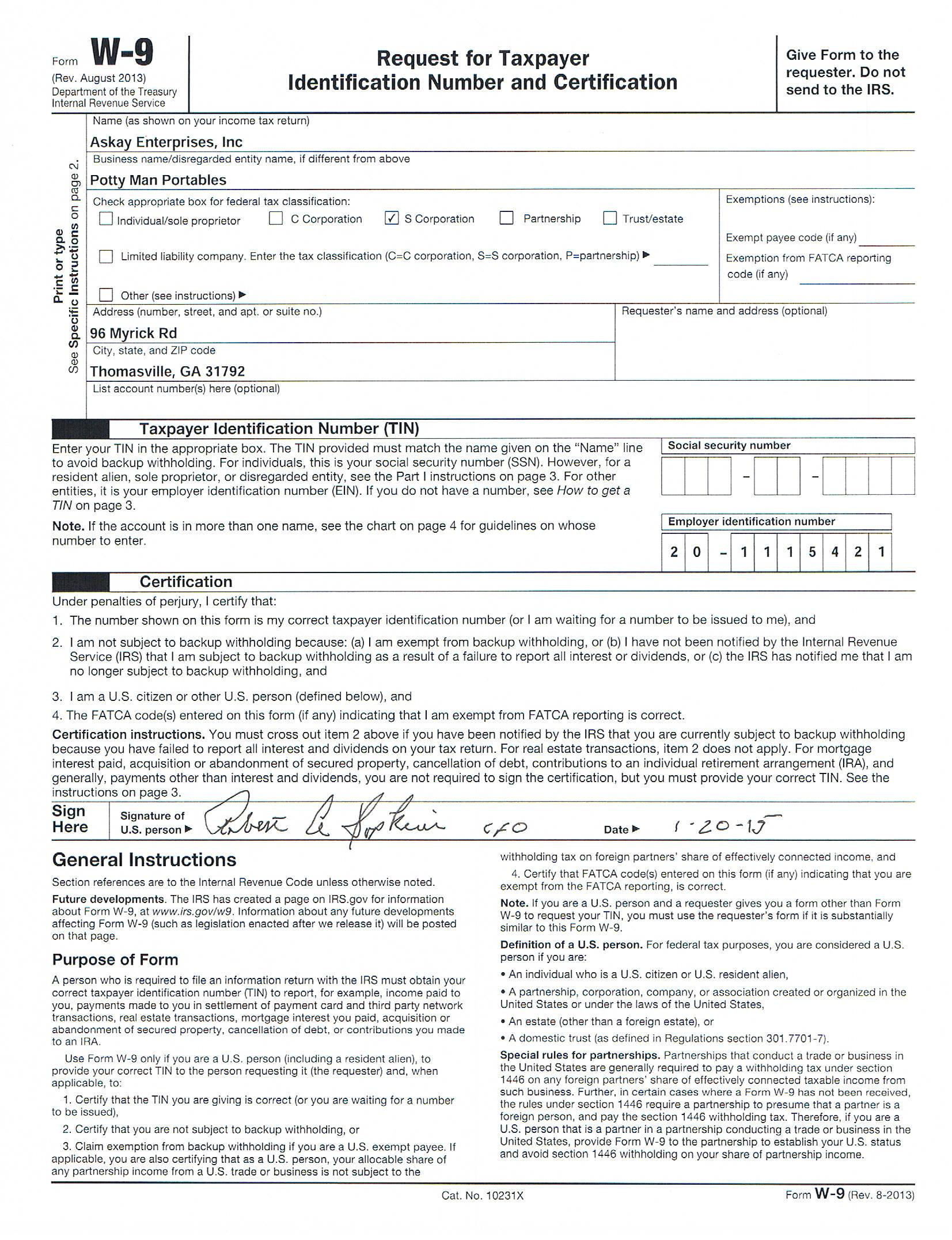 Printable Blank W9 Form   Example Calendar Printable regarding Print Form W-9