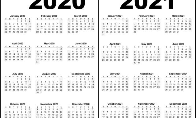Printable Calendar 2020 And 2021 | 2021 Printable Calendar regarding 2021-2021 Two Year Planner: Neat 2-Year