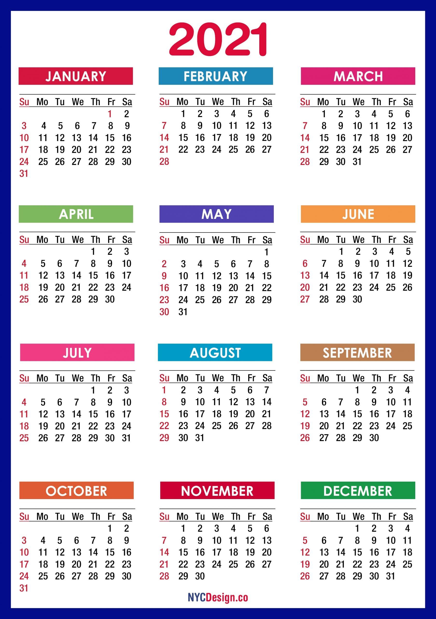 Printable Calendar Monday Through Sunday 2021 | Printable with Calendar 2021 Monday Through Sunday