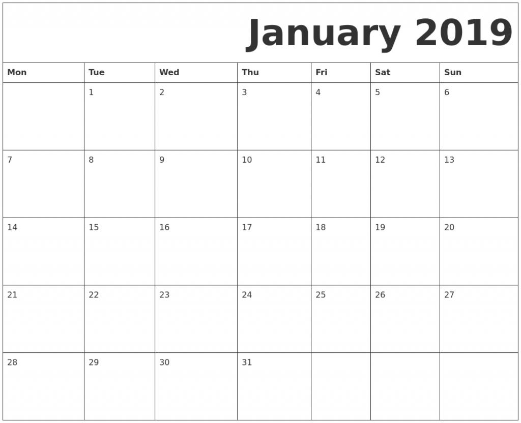 Printable Calendar Starting With Monday - Calendar with regard to Waterproof Calendars Printable 2021