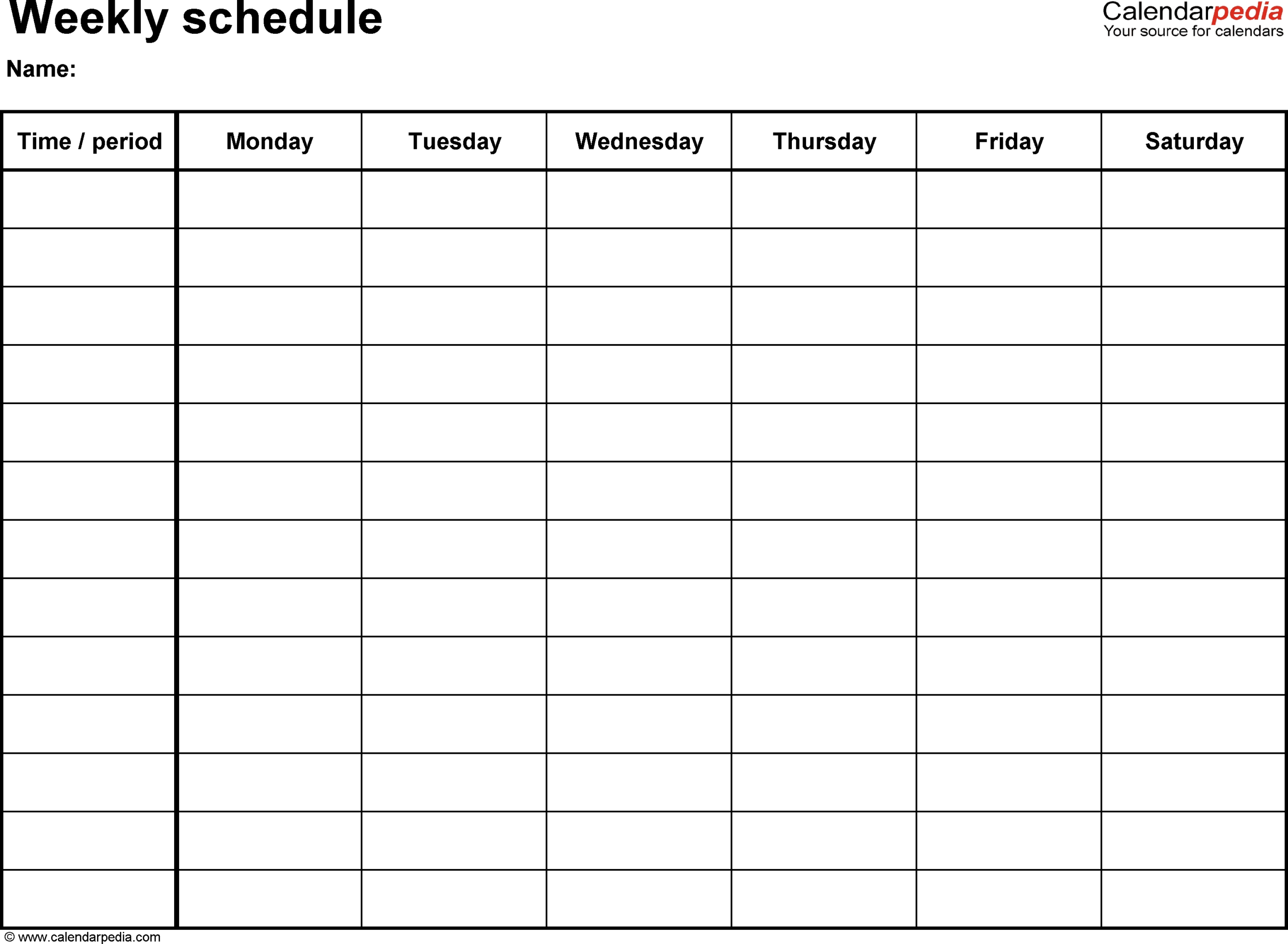 Printable Calendar Sunday Through Saturday | Ten Free pertaining to Sunday Through Monday Blank Calendar