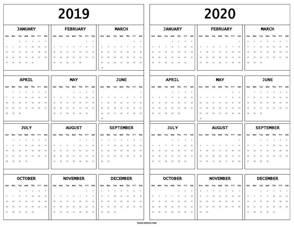 Printable Fill In Calendar 2019 - 2020 - Calendar with Fill In Calendar Printable 2021