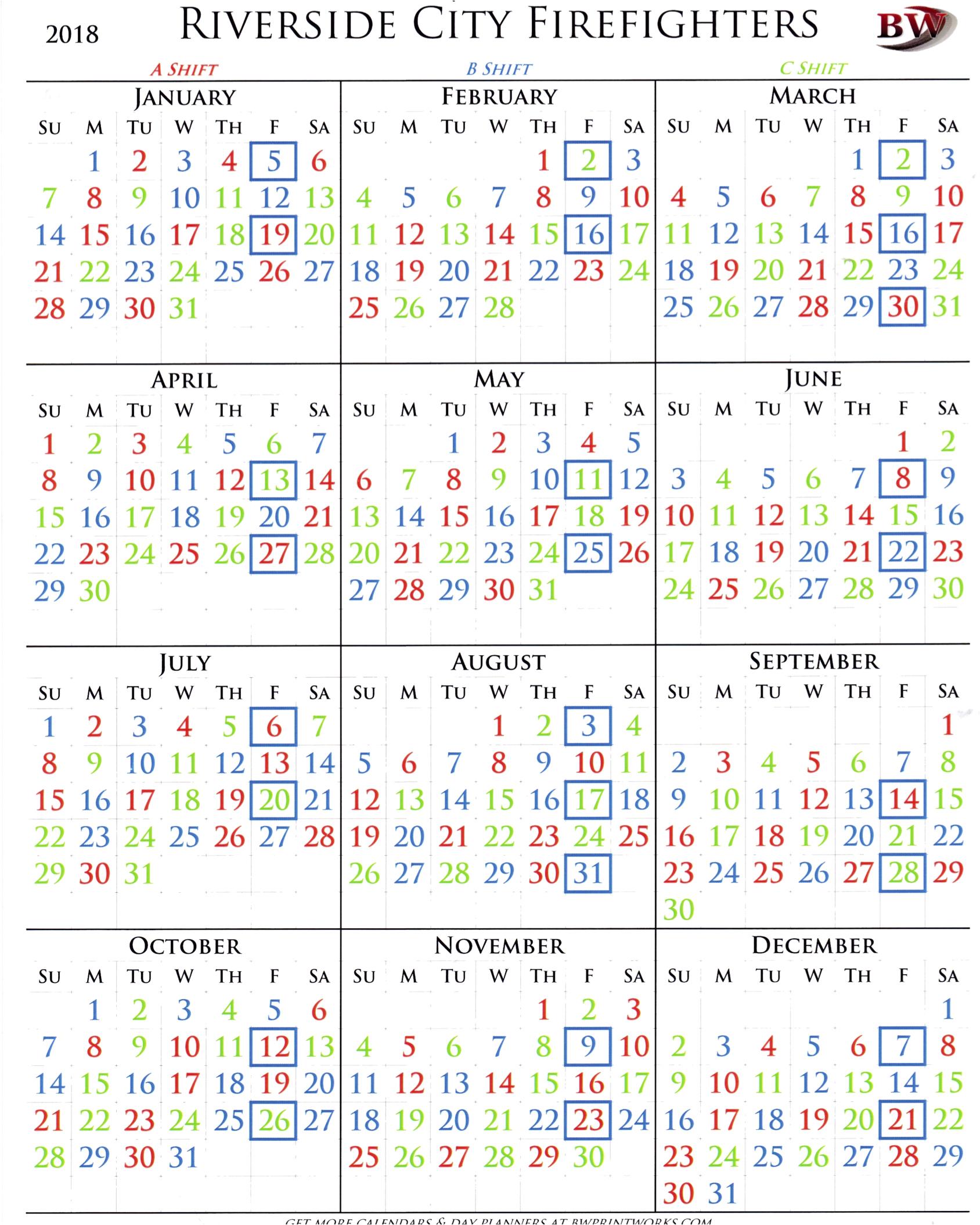 Printable Firefighter Shift Calendar - Calendar Printable Free regarding Free Printable Shift Calendars