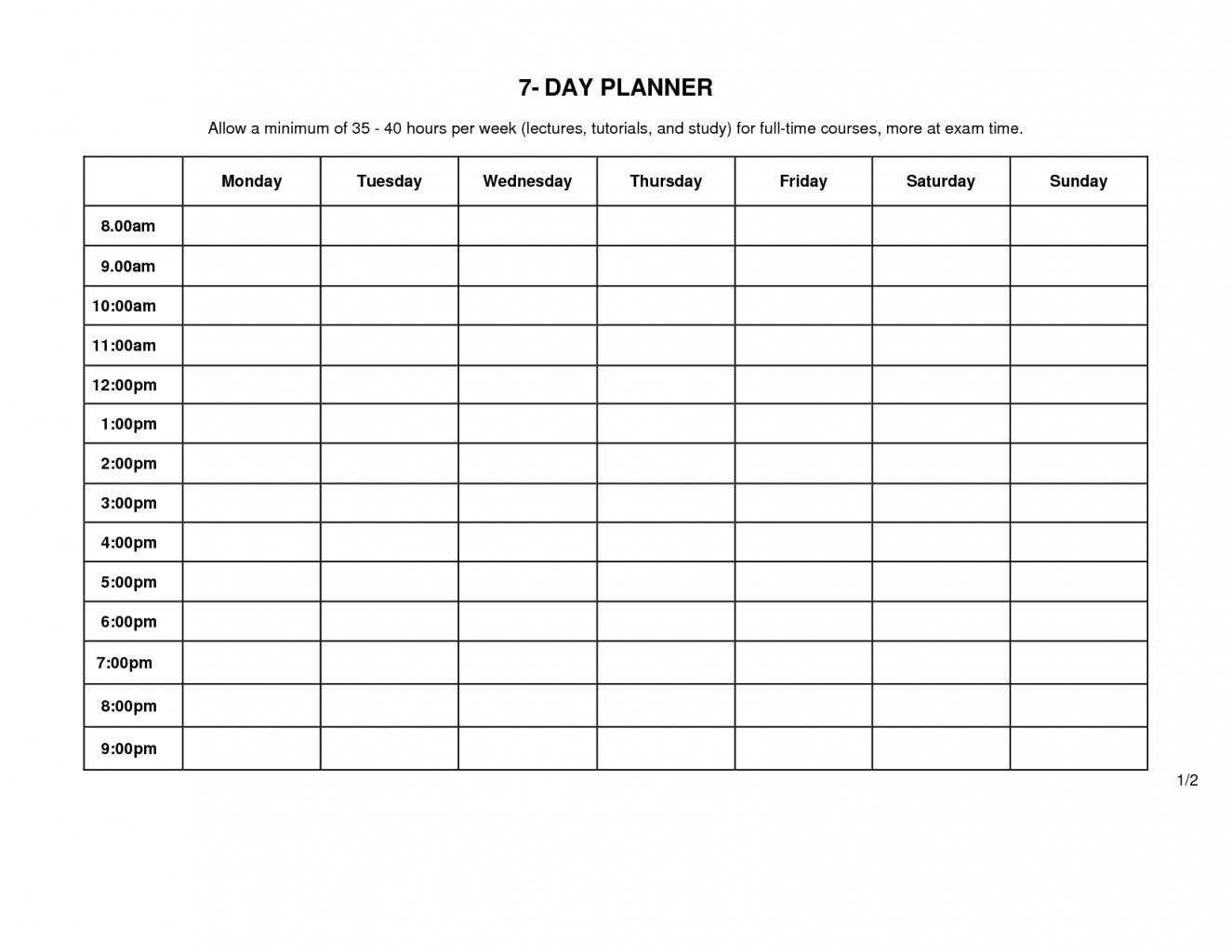 Printable Monday Thru Sunday Calendar For Word | Ten Free throughout Sunday Through Monday Blank Calendar