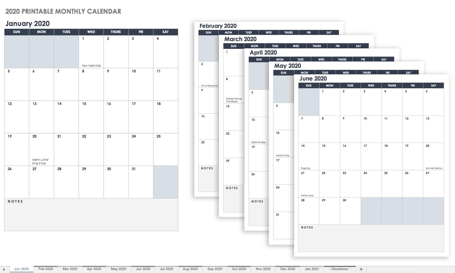 Printable Monthly Calendar Sunday To Saturday No Dates for Sunday Saturday Calendar