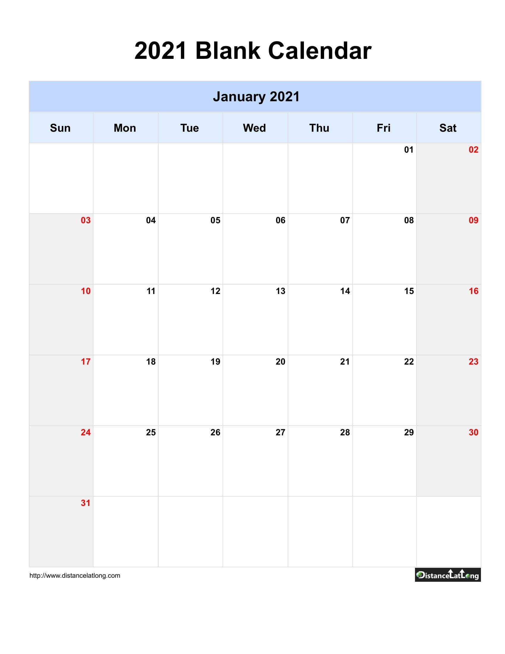 Printable Saturdays Of 201 And 2021 | Ten Free Printable in Blank 2021 Calendar Printable Free