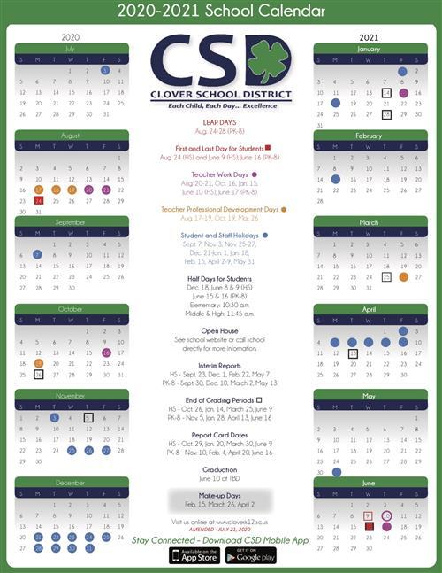 Ptso / 2020 - 2021 Csd Calendar within Sfa 2021 Calendar