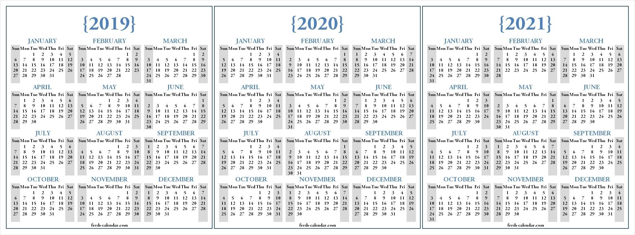 Three Year Calendar 2020 -2023 - Calendar Inspiration Design with regard to 2021-2022 Three 3 Year Planner