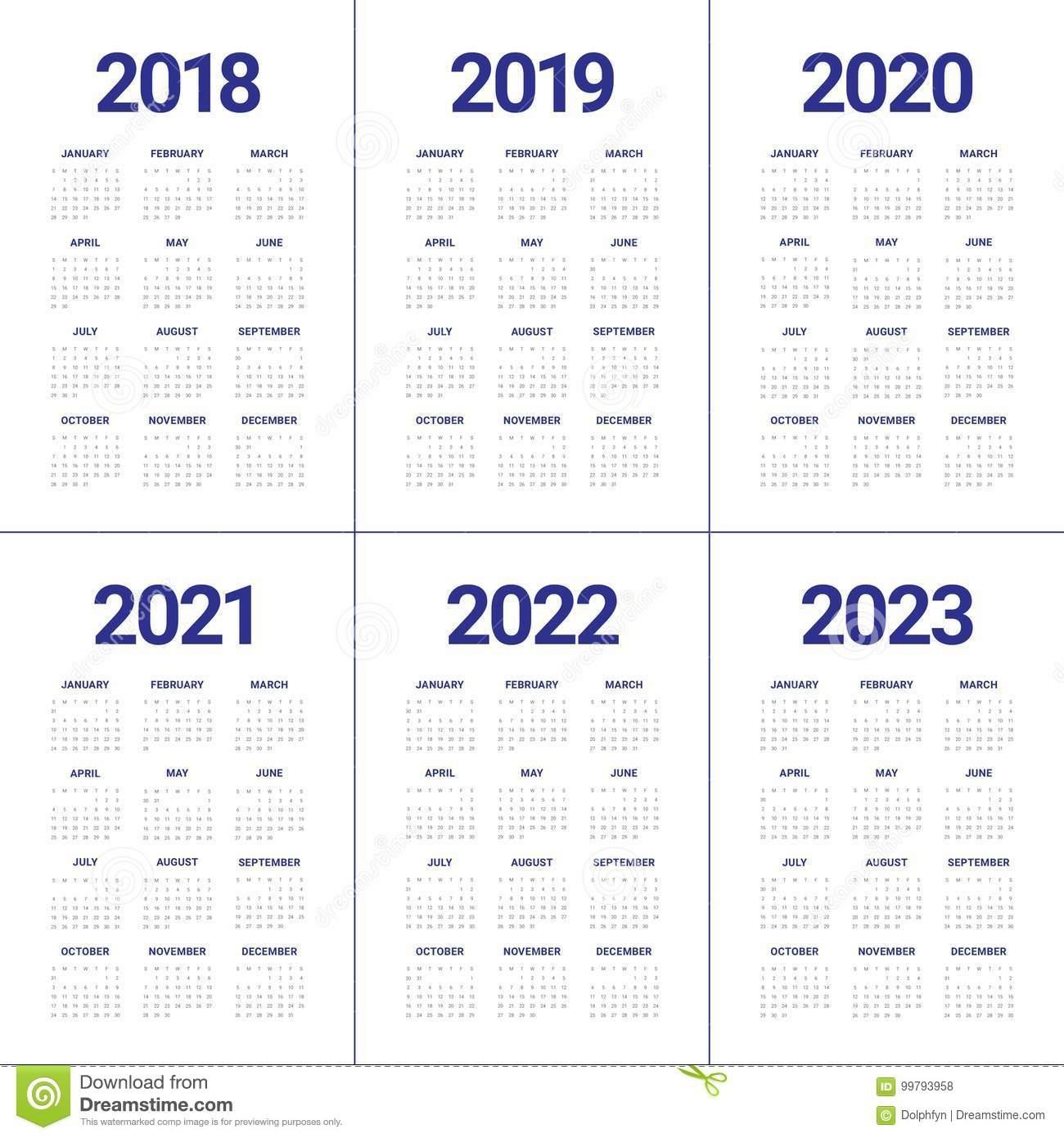 Three Year Printable Calendar 2021 To 2023 | Calendar in 2021-2022 Three 3 Year Planner
